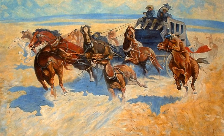 Downing the Nigh Leader – Frederic Remington (1890)