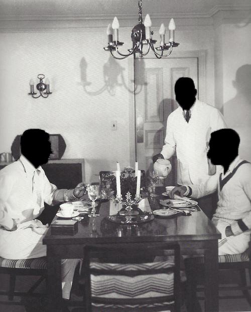 Cary and Randolph Scott Eating