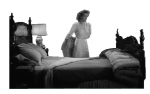 Mrs Miniver Gettng into Bed